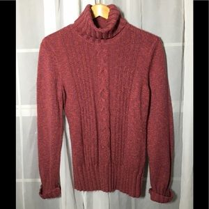 Dressbarn Burgundy Turtleneck Sweater Size XL
